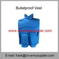 China Wholesale Cheap China Army UN Blue NIJ IIIA Military Police Bulletproof Jacket on sale