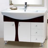 China sanitary ware bamboo bathroom vanity mirror cabinet basin bath shower basin on sale