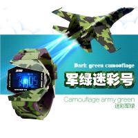 China Analog LCD Digital Watch 30m Waterproof Outdoors Sport Plane Watches / Jelly Digital Watch on sale