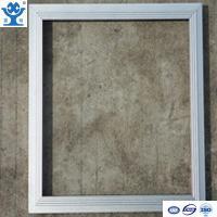 China Silver anodized matt extruded aluminum LED panel frame on sale