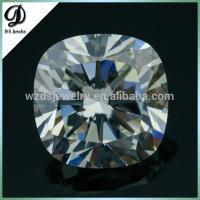 China AAAAA quality Cushion cut cz gems hearts and arrows cz gemstone diamond price per carat for beautiful jewelry on sale