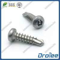 China Self Drilling Tamper Resistant Screws, Torx Pan Head, Stainless Steel 304/316/410 on sale