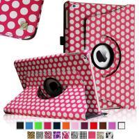 China Polka Dot 360 Degree Rotating Protective Ipad Cases for Apple iPad Air 2 iPad 6 on sale