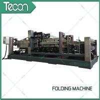 China Energy Saving Cement Paper Bag Folding Machine , Bottom Width 100 - 150mm on sale