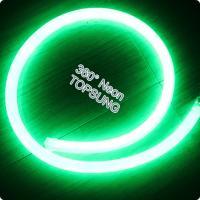 Buy cheap DC24v 360 degree emitting led neon flexible strip 16mm diameter green from Wholesalers