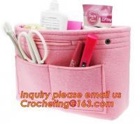 cute nursery felt box, Best selling wholesale felt purse organizer insert, Best selling fashionable Travel Insert felt b