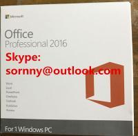 Buy cheap Windows Microsoft Office 2016 Professional Retail Box OEM Version COA Sticker from Wholesalers