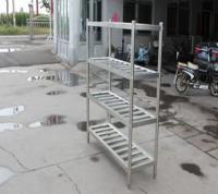China Anti - Rust Metal Shelving Racks Kitchen Punched Pan Rack Detachable Four Deck on sale