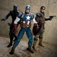 China Popular Superhero Action Figures Plastic Baby Toys Captain America 3D Modle on sale