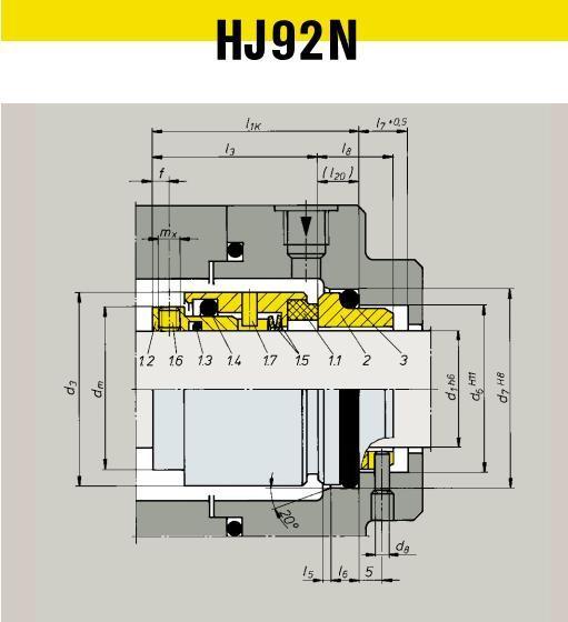 HJ92N Burgmann Mechanical Seals