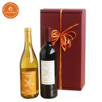 China Classic wine square cardboard gift box beer bottle storage box on sale