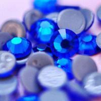 Hot Fix Rhinestones, Capri Blue, Top Quality