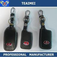 China Custom Car Logo Key Case Toyota Car Logo Key Cover Real Leather Car Key Case on sale