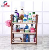 China Plastic holder storage rack kitchen spice jars shelf rack bathroom shampoo holder storage organizer racks for household on sale