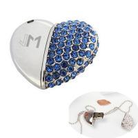 China Promotional Diamond Heart Shape USB Flash Drives Logo Customized on sale