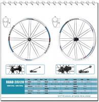 Buy cheap Fixed Gear Bike Alloy Wheels , Black Aluminium Bike Wheels 700C Alloy 6061 Road MTB from Wholesalers