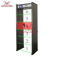Buy cheap Airport Security Door Frame Metal Detector 6 Zone Metal Scanning Alarm Machine K606 from Wholesalers