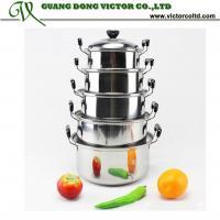 China 5pcs Stainless Steel cookware American Style High Pan panci set 5 pots 16cm, 18cm, 20cm, 22cm, 24cm on sale