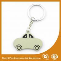 China Car Shape Custom Metal Keychains Nickel Roller / Nickel Satin on sale