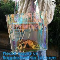 Fashion Hologram Laser Handbag Purse Shoulder Summer Beach Bag for Women,women hologram handbag jelly pvc clear shoulder