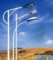 Buy cheap galvanized steel liluminated pole 2.75mm 5-6m Hot Dip Galanization Octagonal Single Arm Street Light Steel Pole from Wholesalers