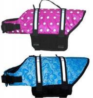 China PET Dog Life Jacket Vest Swimming Preserver S M L XL on sale