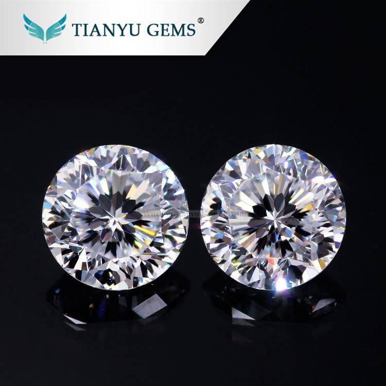 China Gem Processing vvs 9hearts&flower Super White Moissanite Stone on sale