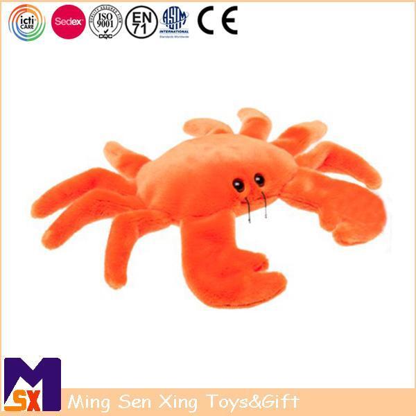 Buy cheap Stuffed Animal Plush Toys Orange Plush Crab for Kids from Wholesalers