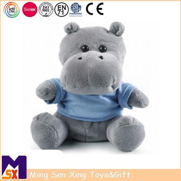 Buy cheap Stuffed Animal Plush Toys Grey Hippopotamus Stuffed Animal from Wholesalers