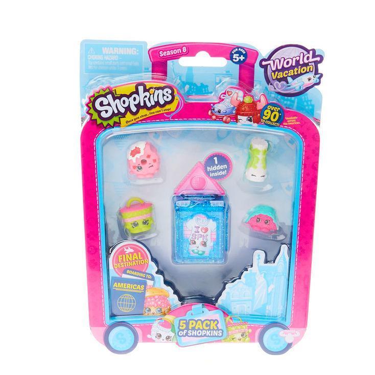 Shopkins 5 Pack Season 8 World Vacation Toys