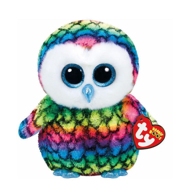 Buy cheap TY Beanie Boos Medium Aria the Rainbow Owl Soft Toy Toys from Wholesalers
