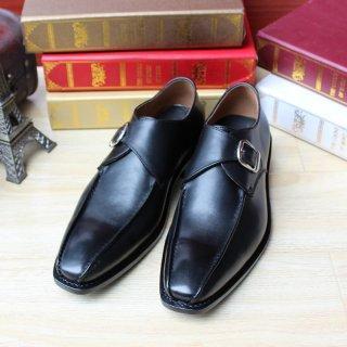 Buy cheap SKP88 Design Custom Handmade Fit Mens Black Goodyear from Wholesalers