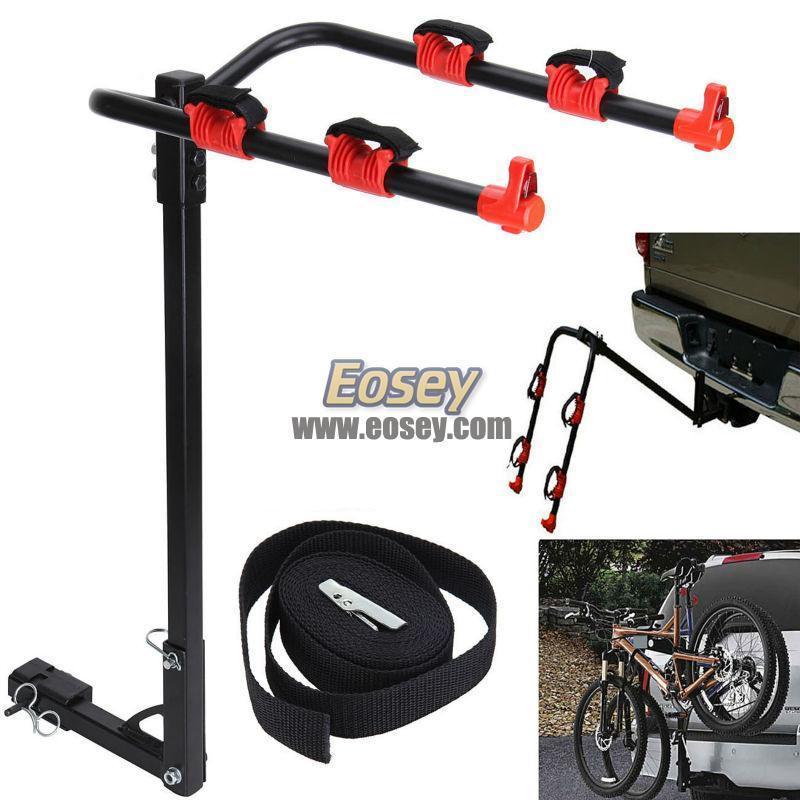 Steel 2 bike rack hitch carrier fits auto car truck trailer 1-1/4
