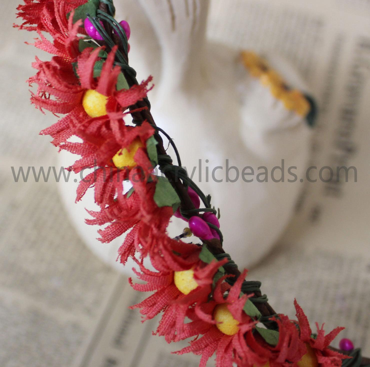 China Fashion Flower Headband Artificial Flower Garland--FHC027 on sale