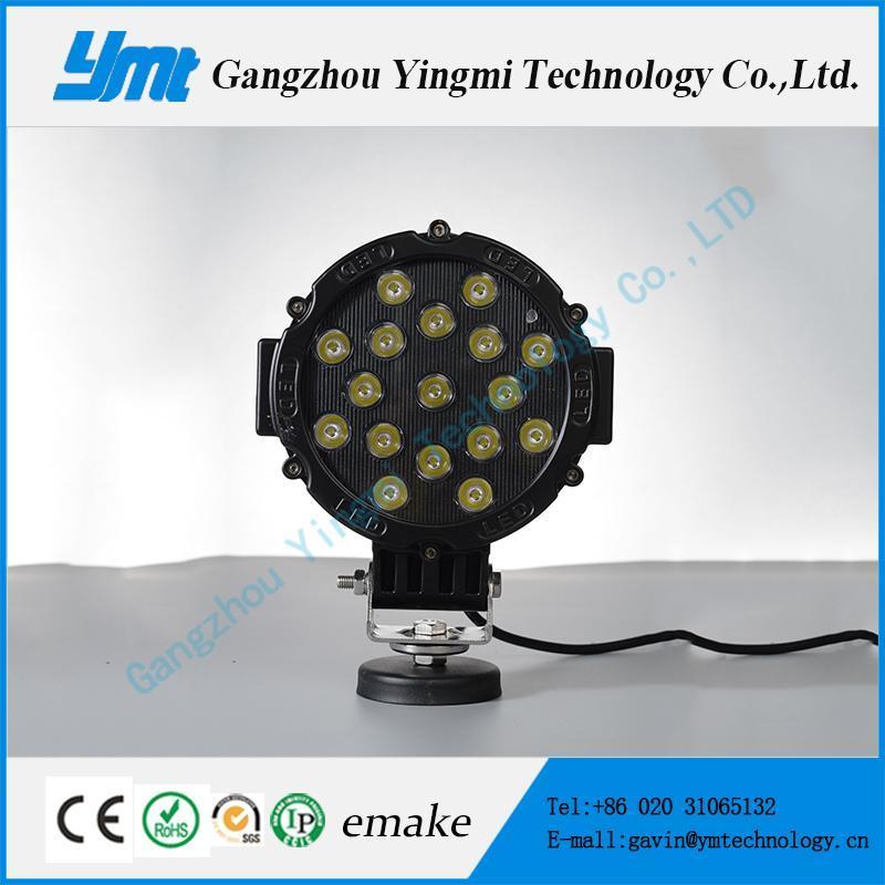 China 3W*17PCS CREE LED Work Light 51W Round Driving Lights on sale