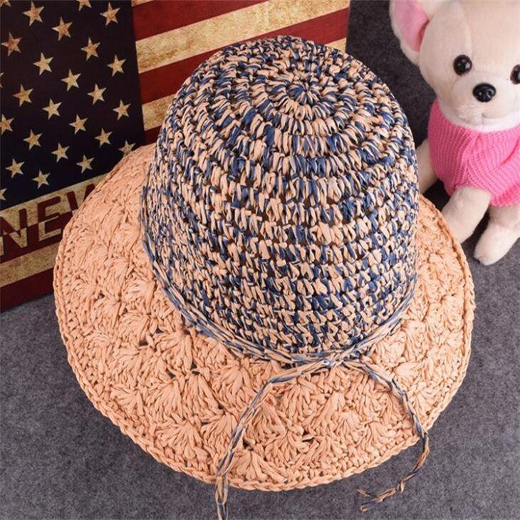 China Crochet Handwork Paper Beach Hat for Women on sale