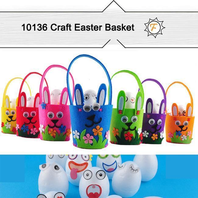 China Unfinished Felt Easter Basket for DIY Craft Kits on sale