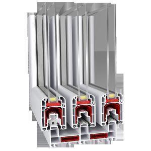 Buy cheap 88mm Sliding Series Blue White Upvc Profile For Plastic Doors Frame from Wholesalers