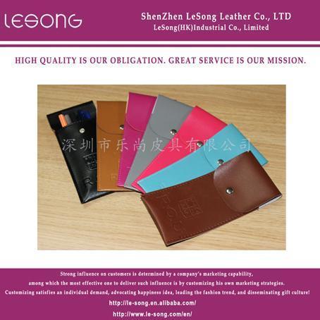 China LS1006 PU Leather Pencil Bag on sale