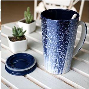 Buy cheap 17-Oz Blue Ceramic Morning Mug For Milk Coffee Juice Tea from Wholesalers
