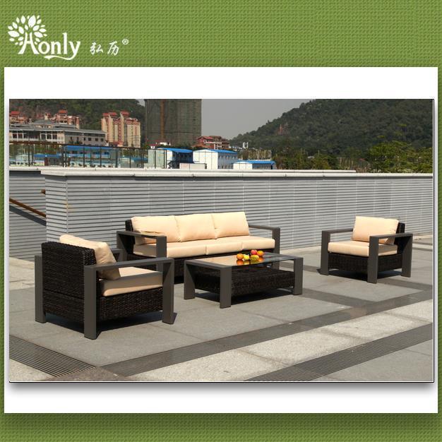 Buy cheap Latest Design Aluminum Rattan KD Sofa Set from Wholesalers