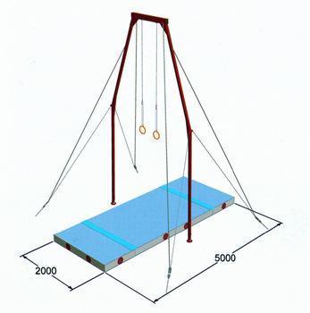 Buy cheap Gymnastics mats flying ring landing mats system from Wholesalers