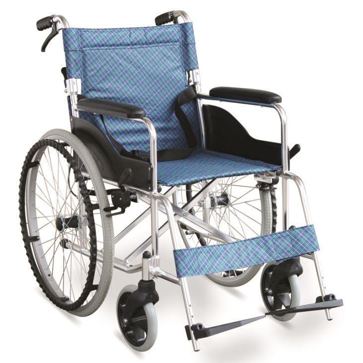 #JL838LAJ  29 lbs. Ultralight Wheelchair With Hand Brakes & Dual Cross Brace
