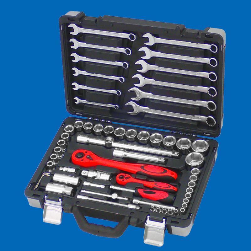 Draco Series- 61pcs 1/4 & 1/2 Dr. Socket & Spanner Set