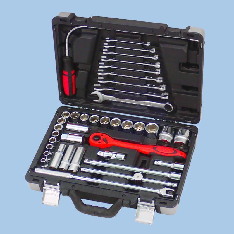 "Buy cheap Draco Series- 39pcs 1/2"" Dr. Socket & Tool Set from Wholesalers"
