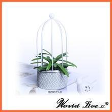 China wholesale cement basic geometric chinese outdoor garden mini bonsai plant pots on sale