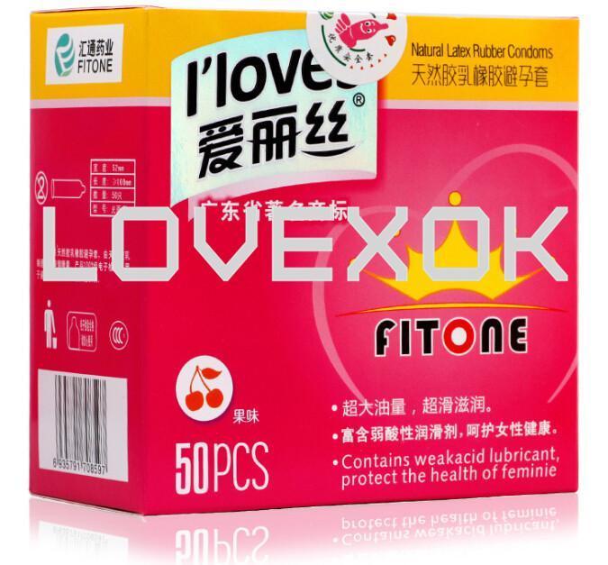 I loves Sex 50 pcs / lot Men Ultra-thin Condoms Natural Latex Adult Product Sealed