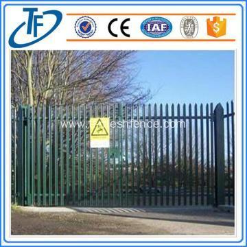 High security nice looking steel perimeter fence/palisade garrison fence