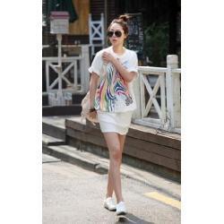 China Pure white T-shirt Model No. on sale