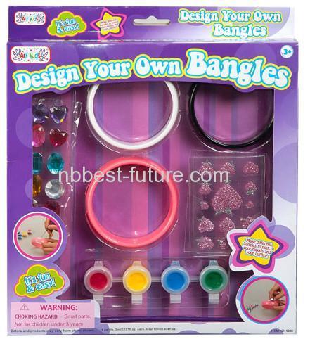 China MC15116 Kids colorful bangles set DIY Craft kits on sale